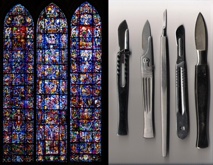 Lancet Window, Reims Cathedral and Lancet Surgical Tool